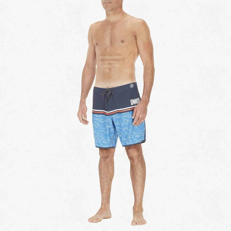 "Boardshort PICTURE Homme Andy 17"" Blue"
