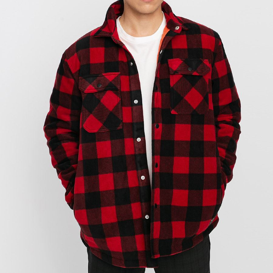 Chemise Volcom Power Polar Fleece Rio Red