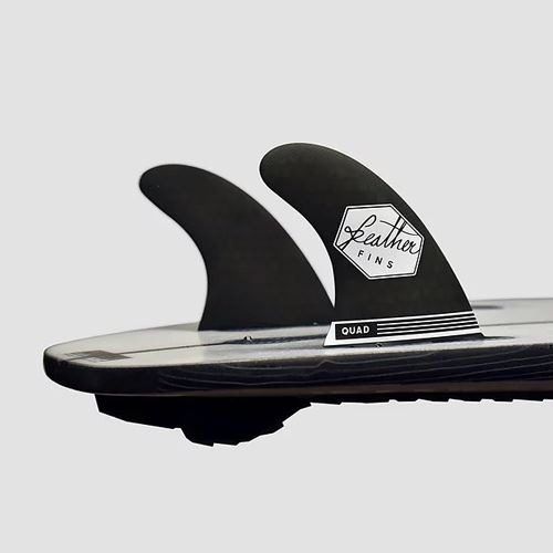 Dérives Feather Fins Rear Series FCS II Black Quad