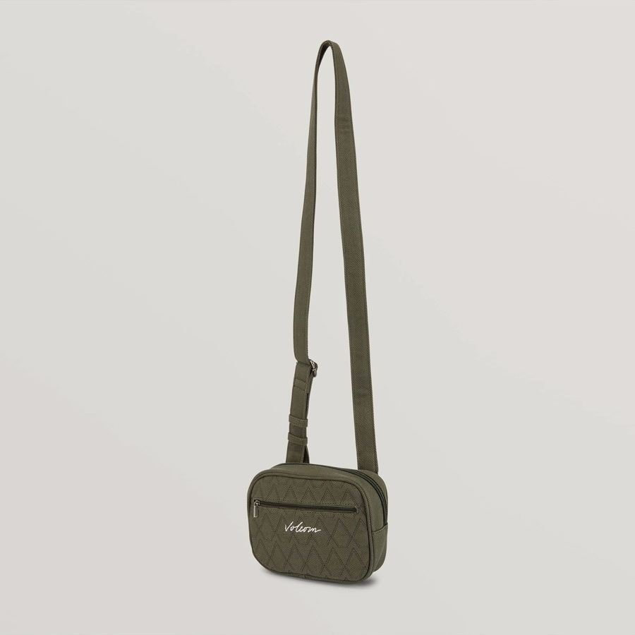 Sac à main VOLCOM Multistone Crossbag Army Green Combo