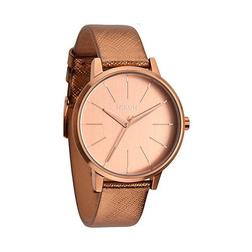 Montre NIXON Kensington Leather Rose Gold Shimmer