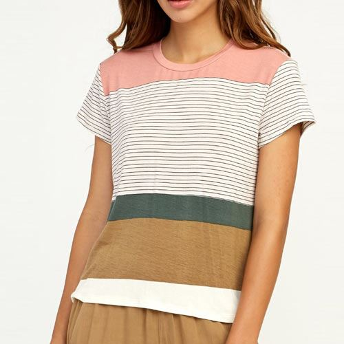 T-shirt Femme RVCA Recess Striped