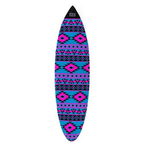 Housse Shortboard Aztèque Cyan Magenta CREATURES OF LEISURE