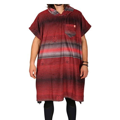 Poncho After Stripes - Red