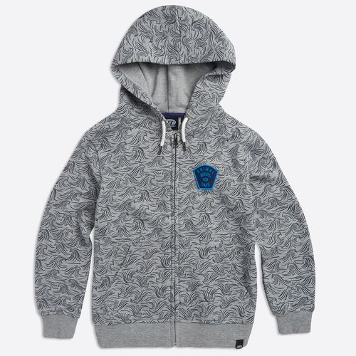 Sweat à capuche zippé Enfant ANIMAL Seachild Grey