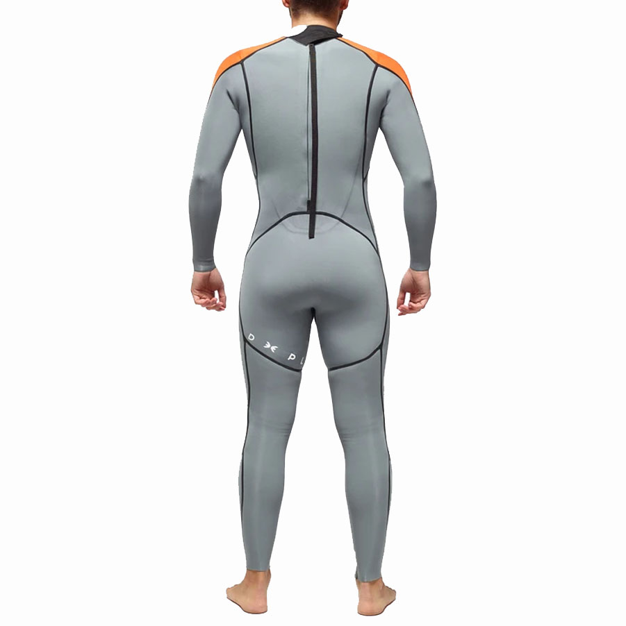 Combinaison Homme DEEPLY Performance 3/2 Back Zip Gris Foncé