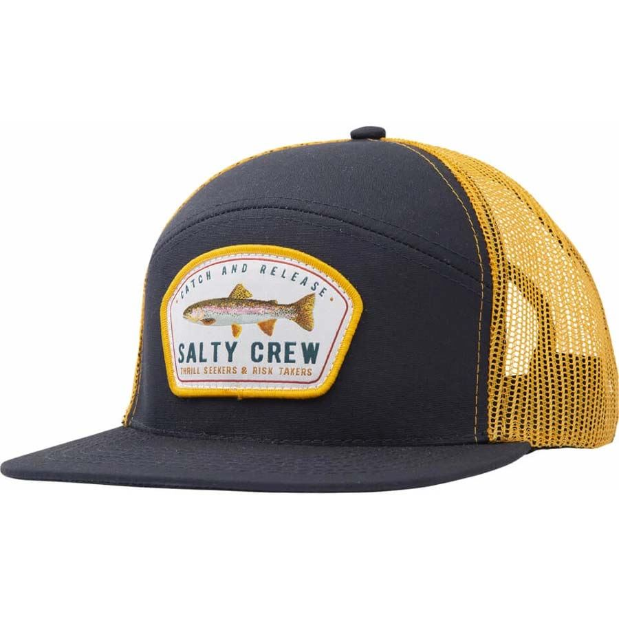 Casquette Salty Crew Catch And Release Trucker Navy & Gold