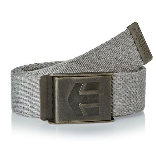 Ceinture ETNIES Staplez Belt Light Grey Dark Grey