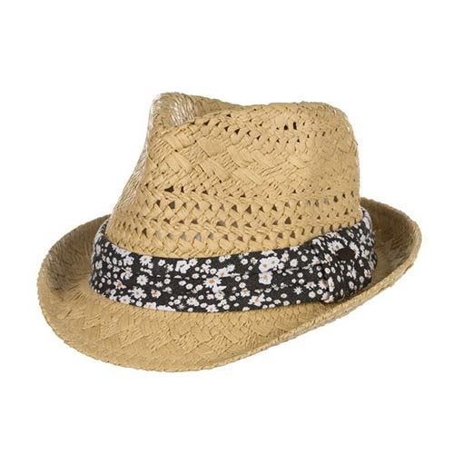 Chapeau de paille ANIMAL Tessi Straw Hat Natural