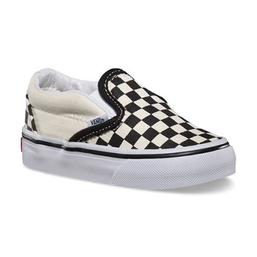 Chaussures Bébé VANS Classic Slip-On Black White Checker