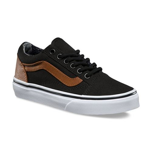 Chaussures Junior VANS C&L Old Skool Black Material Mix