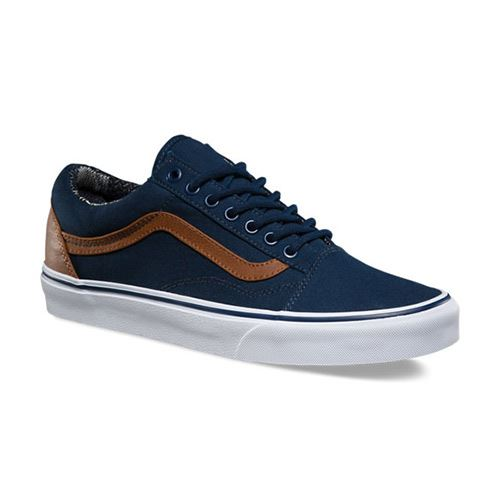 Chaussures VANS C&L Old Skool Dress Blues Material Mix