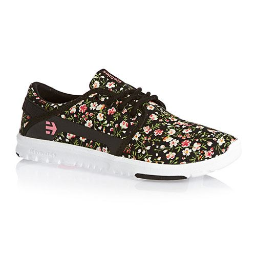 Chaussures ETNIES Scout Womens Black White Pink