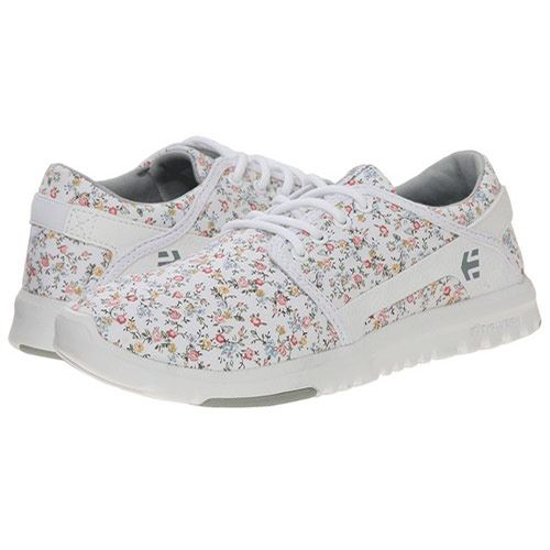 Chaussures ETNIES Scout Womens White Light Grey