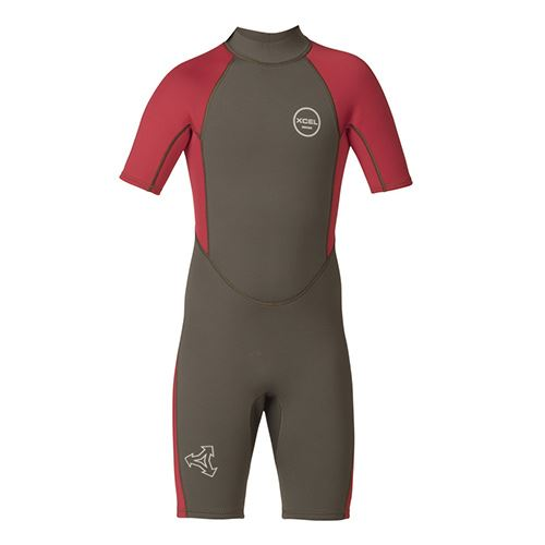 Combinaison Enfant XCEL 2mm Axis Spring Suit Gunmetal Red