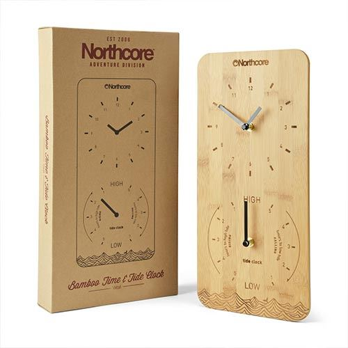Horloge Marée NORTHCORE Time and Tide Bamboo Wall Clock