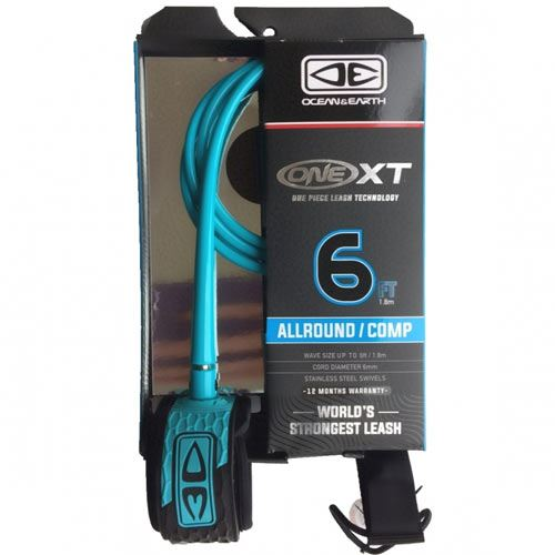 Leash Comp One XT Ocean Earth 6' Bleu
