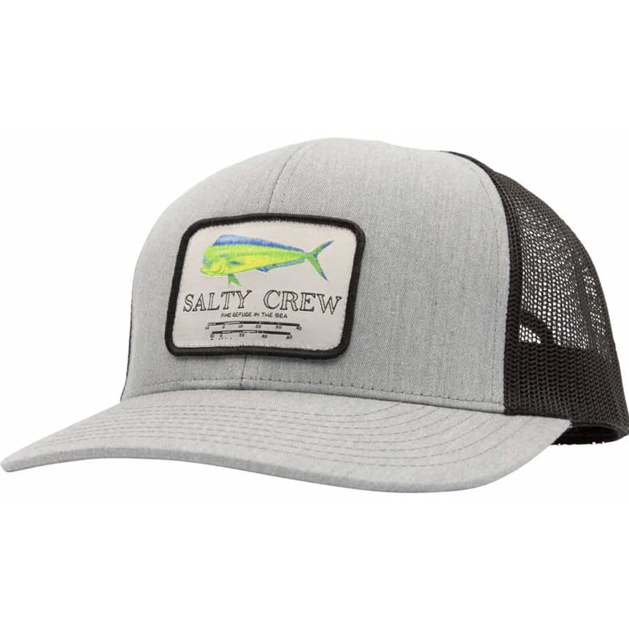 Casquette Salty Crew Mahi Mount Retro Trucker Heather Grey & Bla