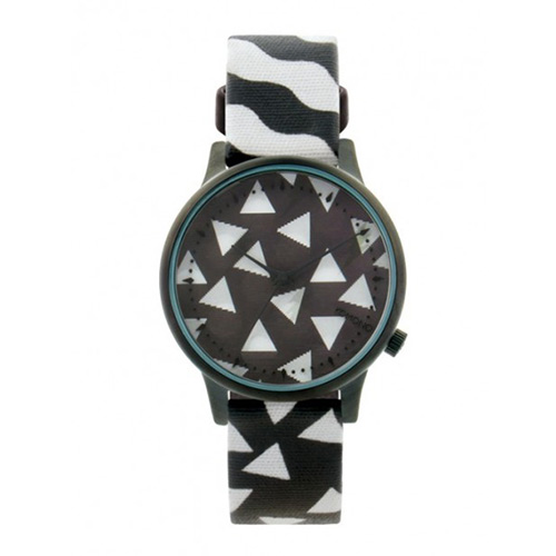 Montre KOMONO x HAPPY SOCKS Estelle Black & White