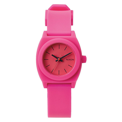 montre nixon small time teller p hot pink surf shop skateshop soon line. Black Bedroom Furniture Sets. Home Design Ideas