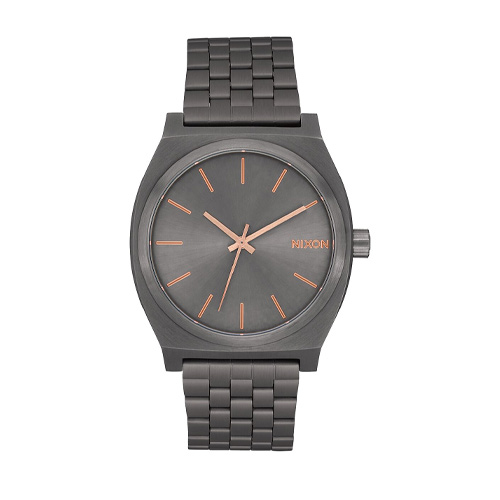 Montre NIXON Small Time Teller Rose Gold Gunmetal