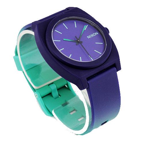 montre nixon time teller p purple green surf shop skateshop soon line. Black Bedroom Furniture Sets. Home Design Ideas
