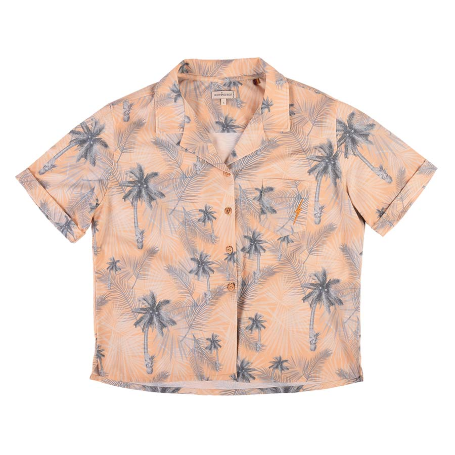 Chemise LIGHTING BOLT Palm Trees Shirt Apricot Buff