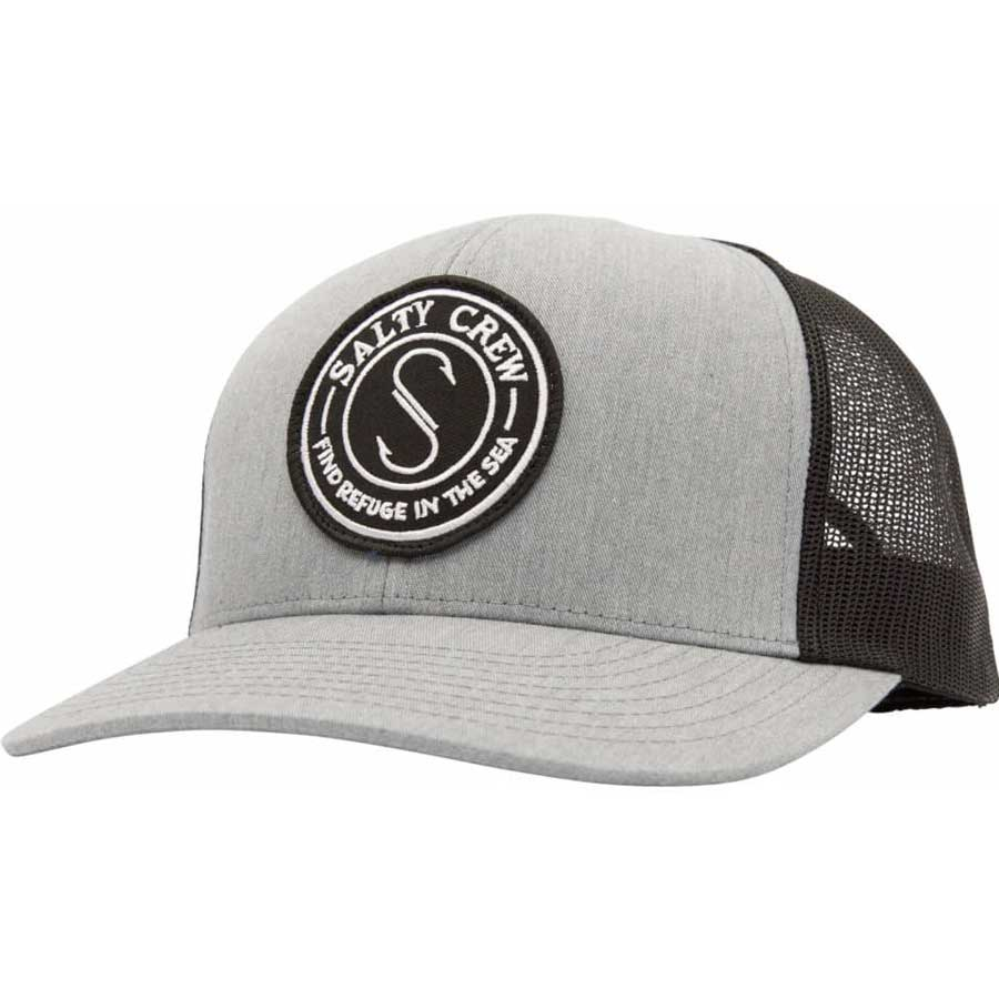 Casquette Salty Crew Palomar Retro Trucker Grey & Black