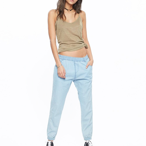 Pantalon ANIMAL Summer Days Trousers Chambray Blue