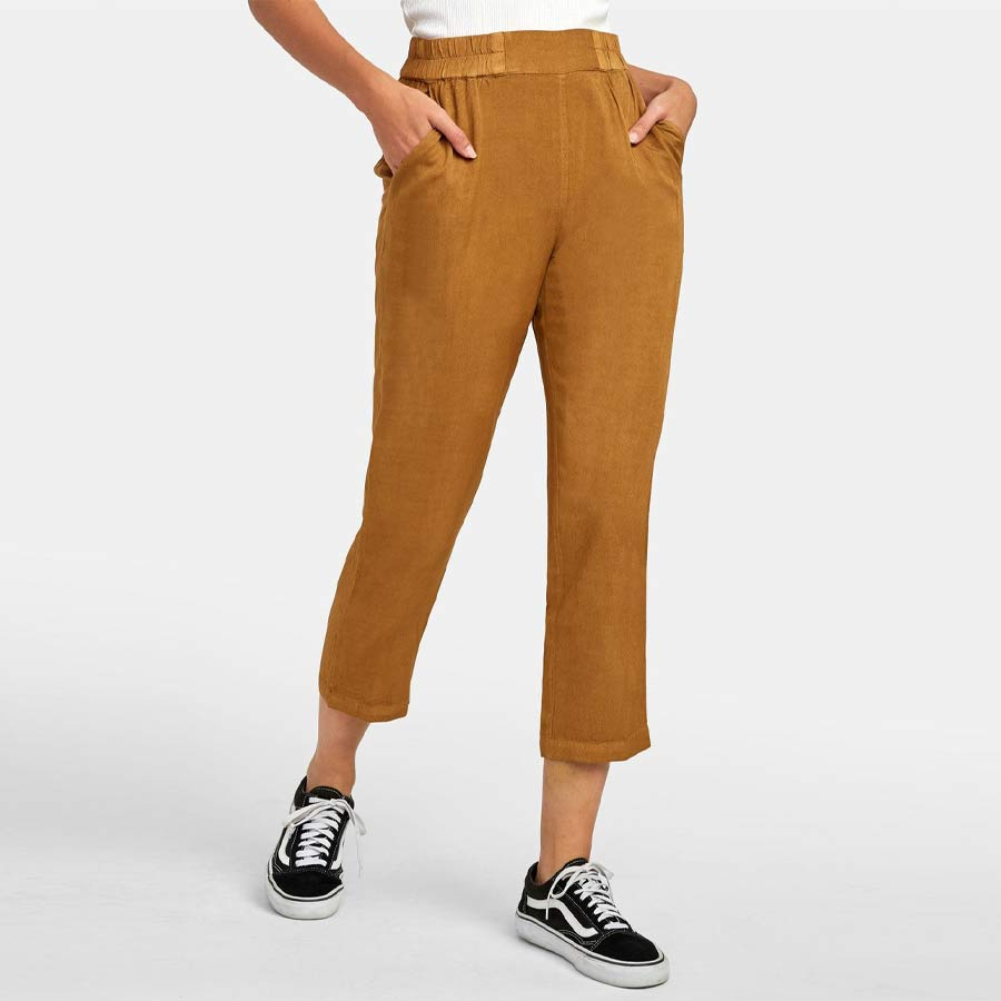 Pantalon RVCA pour femme Manila Antique Brown