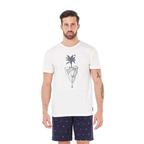 T-Shirt Homme PICTURE Ice Palm White