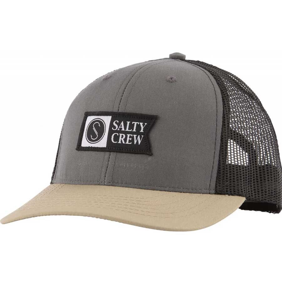 Casquette Salty Crew Pinnacle Retro Trucker Charcoal & Kaki