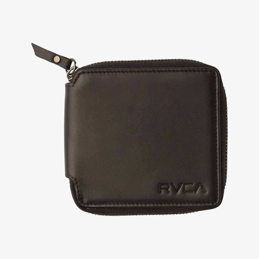 Portefeuille RVCA Zip Around Wallet Black
