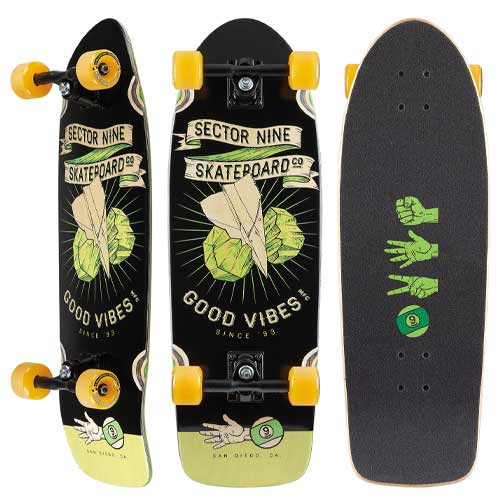 Skate Sector 9 Roshambo Fat Wave Cruiser