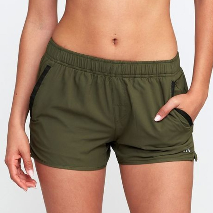 Short RVCA Yogger Stretch Kaki