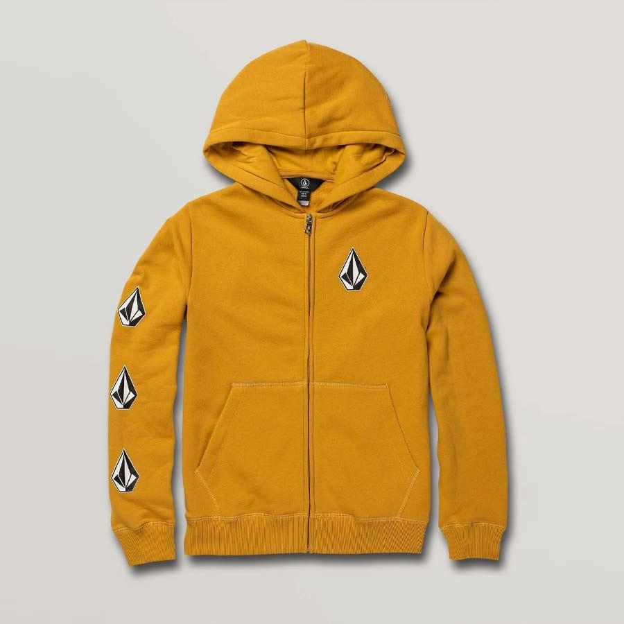 Sweat à capuche Enfant VOLCOM Deadly Stones Zip Gold