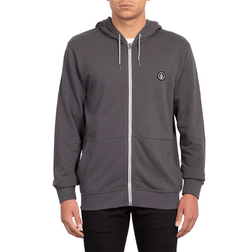 Sweat à capuche zippé VOLCOM Litewarp Zip Heather Black