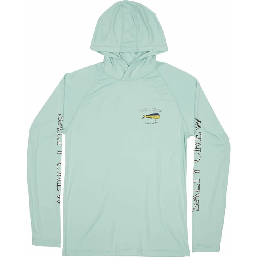 T-Shirt manche longue Salty Crew Dodo Pinnacle Tech Hood Aqua