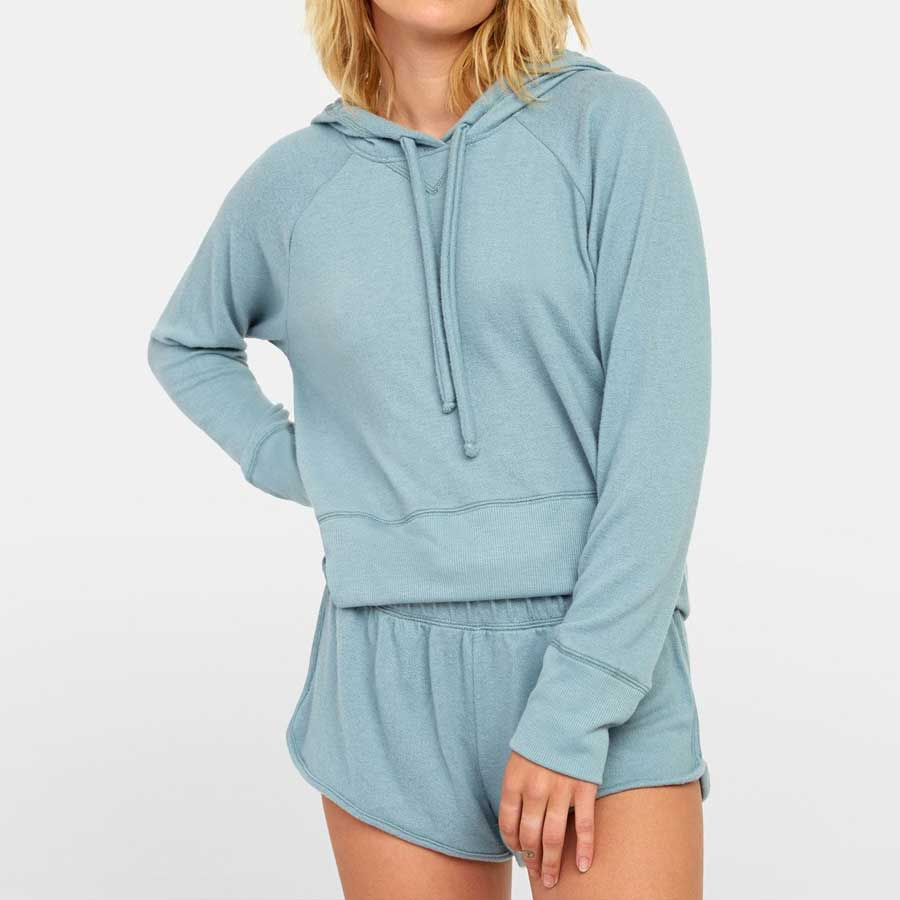 Sweat à capuche RVCA femme Night Off Hoodie Blue