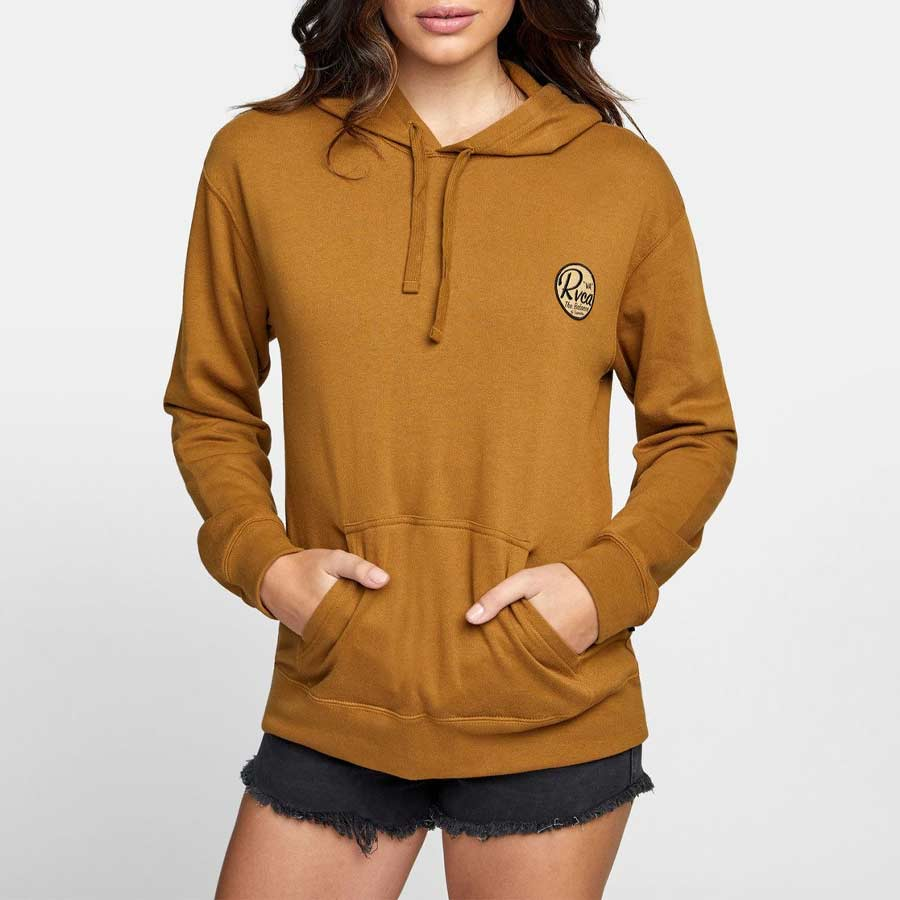 Sweat à capuche RVCA femme Patch Seal Po Hoodie Antique Brown