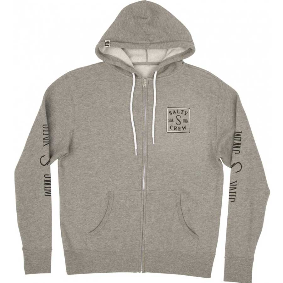 Sweat à capuche zippé Salty Crew Squared Up Zip Fleece Gunmetal