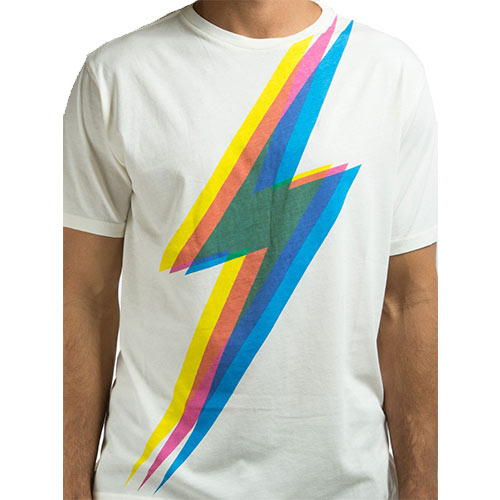 T-Shirt LIGHTNING BOLT 3D Full Bolt Egret