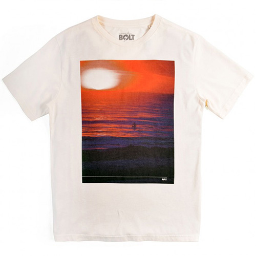T-Shirt LIGHTNING BOLT Egret Sunset Red