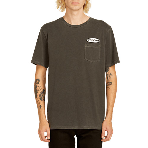 T-Shirt VOLCOM Oval Patch Pocket Tee Black