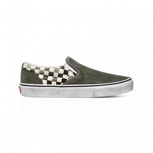 Chaussures VANS Classic Slip-On Leaf Black