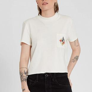 T-shirt Femme VOLCOM Pocket Dial White Star