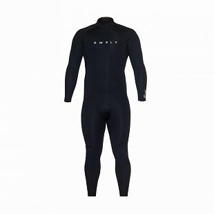 Combinaison Homme DEEPLY Pure Back Zip 4/3 Black