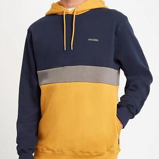 Sweat à capuche VOLCOM Single Stone Division Blue & Yellow