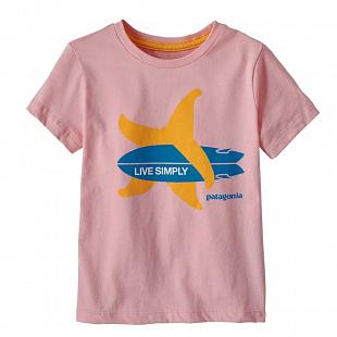T-shirt PATAGONIA Baby Live Simply® Organic Cotton Pink