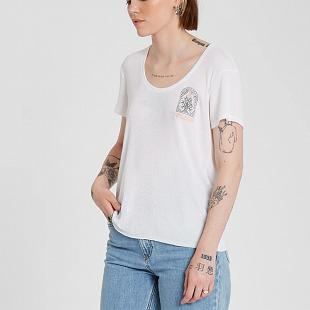 T-shirt VOLCOM Femme Ribit Up White